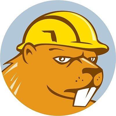 30 Custom Construction Beaver Personalized Address Labels