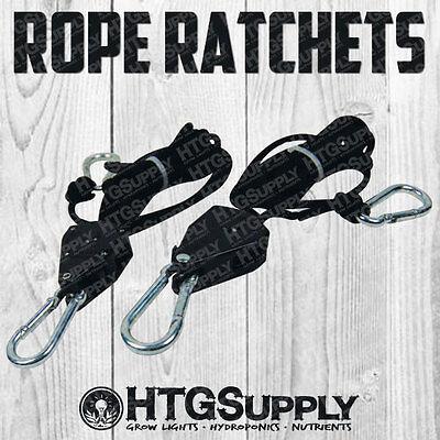 (ROPE RATCHET PAIR REFLECTOR HANGER PRO GROW LIGHT GRIP 2 pk 1/8