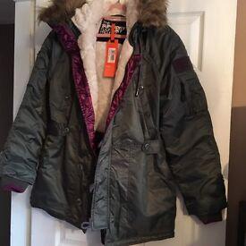 Genuine Superdry Women's Medium Parka coat