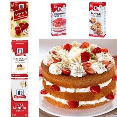 Mc Cormick Pure Extract Vanilla Maple Rum Orange etc. Natural Flavour Desserts