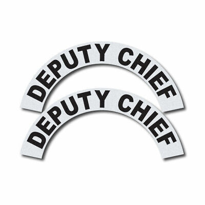 3m Reflective Firerescueems Helmet Crescents Decal Set - Deputy Chief