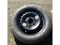 Space saving/temporary use car spare wheel Continental Size 125/90 R15 Very good tread Telford