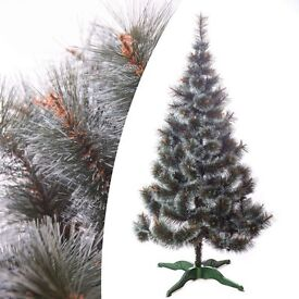 Luxury 6ft 180cm Artificial Christmas xmas tree with frosted tips