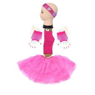 Hotpink Short-Glove TUTU 4 Set Skirt Socks Kids/Girl/Lady Ballet