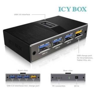 ICY BOX 4 Port USB 3.0 hub with USB charge port (IB-AC611)