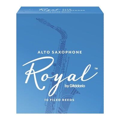 Box of 10 Royal By D'Addario (Rico Royal)  Alto Saxophone Reeds 3.5 Strength