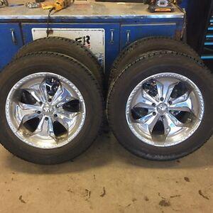 Chevy/Gmc 6 Bolt Pattern 20 inch Chrome Rims & Tires X4