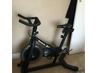 Spinning reebok exercise bike