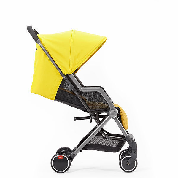 """Diono Traverze Travel Stroller Yellow Sulphur Linear Grey /""""Gold Collection/"""" New!"""