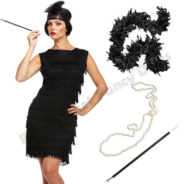 1920/'s Flapper Great Ladies Fancy Dress Hen Night Party Accessories