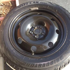 Four Winter tires and rims Kitchener / Waterloo Kitchener Area image 3