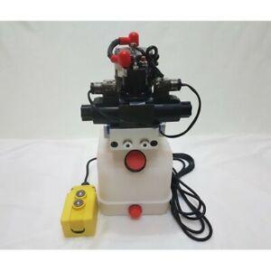 Pompe hydraulique double actions - 12 volts