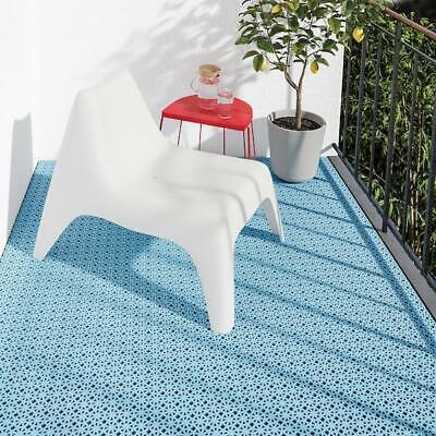 Rejilla de Piso Universal Steckfliese Jardín Mostrador Balcón Azul Claro