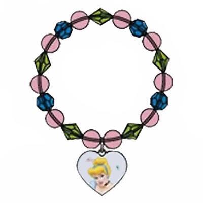 Cinderella Dreamland Charm Bracelet Birthday Favor 1 Per Package Party - Cinderella Birthday Supplies