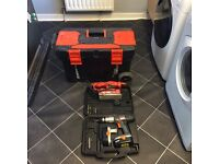 Black and decker toolbox with tools