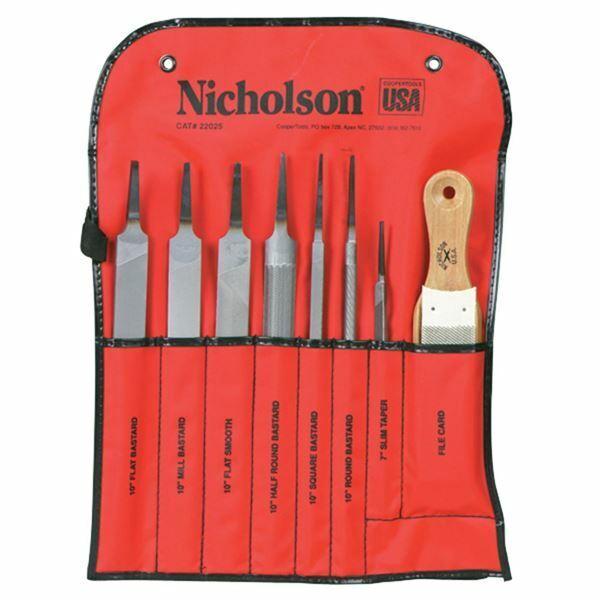 Nicholson 22025 8 Pc Machinist File Set