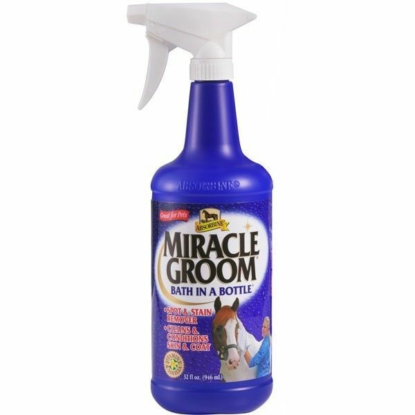 Absorbine Miracle Groom 32 oz Equine Canine Dogs Deodorizes Detangles Shines