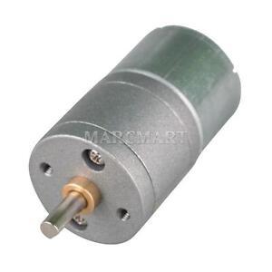 6v 20 Rpm Mini Dc Gear Box Electric Motor For Hobby Diy Ebay