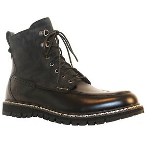 Timberland Britton Hill Moc Toe Boots - Size 10 - Black