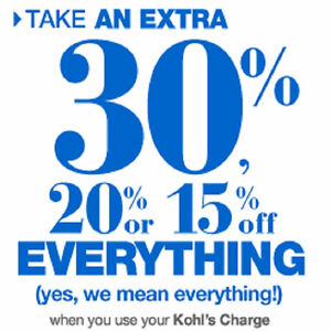 Kohls Purchase Service with 15%, 20% or 30% Online Code and more