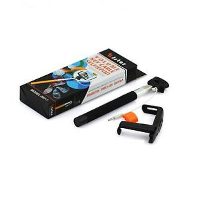 LOT OF 25 NEW WIRED SELFIE STICK MONOPOD FOR IPHONE SAMSUNG LG HTC ZTE BLACK