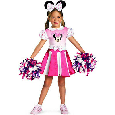 Disney Mickey Mouse Clubhouse Minnie Mouse Cheerleader Girls Costume | Disguise - Mickey Mouse Costumes For Girls