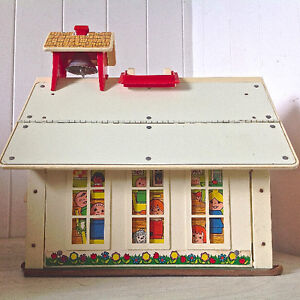 Vintage 1971 Collection Jouet FISHER PRICE USA. Petite école