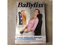 BaByliss shiatsu back massager. Boxed