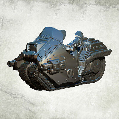 Legionary Breacher Bike armed with twin magma rifle Kromlech Resin KRM102