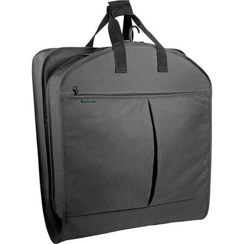 """Wally Bags 30"""" x 22"""" Suit Length Garment Bag with Pockets BLACK"""