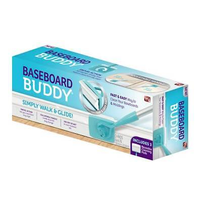 Baseboard Buddy - Baseboard & Moldings Cleaning Tool - Duster w/Cleaning Pads