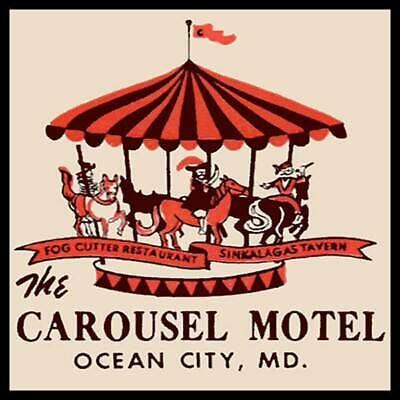 The Carousel Motel Ocean City, Maryland Fridge Magnet