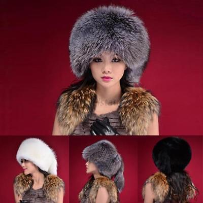 US Women Faux Fur Hat Russian Style Winter Warm Earflap Cap Snow Hats
