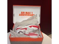 Air max 1 og anniversary red size 10 can ship