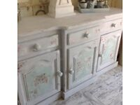 Solid wood dresser shabby chic