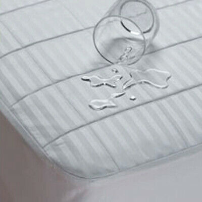 Waterproof Sateen Cotton Fitted Mattress Pad by Bargoose Home Cotton Sateen Mattress Pad
