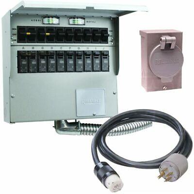 Reliance Controls Protran 2 - 50-amp Power Transfer Switch System 10 W St...