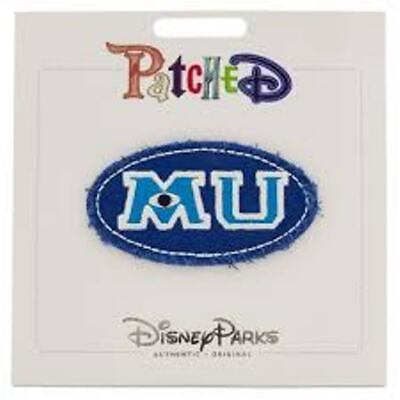 Disney Parks Patched Monsters University Logo MU Inc