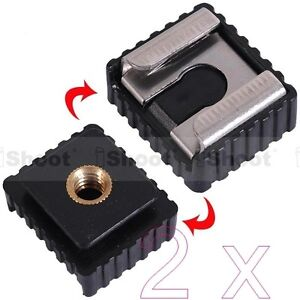 2x-Universal-1-4-Screw-Hole-Cold-Foot-to-Hot-Shoe-Mount-Adapter-for-Nikon-Flash