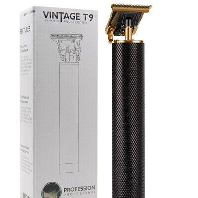 Professional Wireless Gold/Black Trimmer Cut & Shave Vintage T9 Barber Shaver