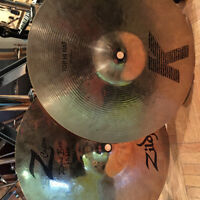 Cymbales usagé hi hat Zildjian K/Z combo 13po