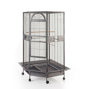 Parrot-Escape-Jumbo-Corner-Bird-Cage-with-Seed-Skirt