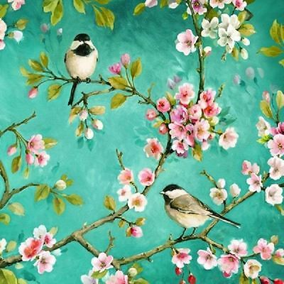 4 x Paper Napkins - Birds in Blossom - Ideal for Decoupage / Decopatch