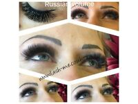 Russian volume eyelashes 3D-9D, Mink eyelash extensions