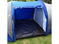 Pro action 6 man 2 room tent blue