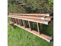 Vintage three tier ladder