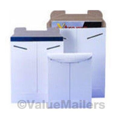 Stay Flat Mailers 100 - 13 X 18 White Rigid Photo Mailers Tab Locking Stay Flats
