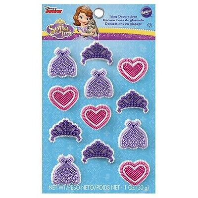 Sophia the First Icing Decorations 12 ct from Wilton 2034 NEW - Sophia The First Decorations