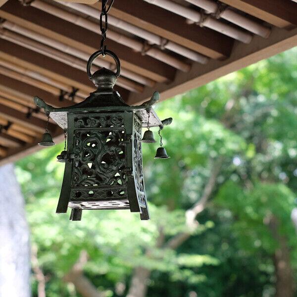 New Takaoka Copperware Hanging Lantern Square Small Lighting LED Bronze Color
