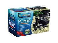 Kingfisher Submersible Fish Pond Water Pump and Fountain (6000 l/hr) - Brand New